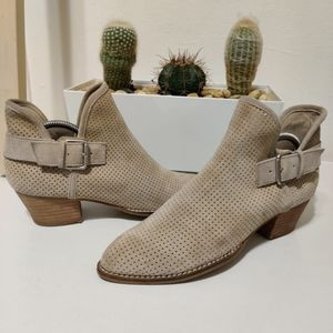 DOLCE VITA DV Simon Perforated Suede Bootie Taupe